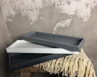 Concrete Tray | Decorative Tray | Rectangle Tray | Serving Tray | Concrete Décor