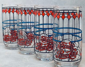 Bright Colors Throughout Pepsi-Cola Design on One Both Sides Classic Pepsi-Cola Juice PitcherCarafe Holds 2 Quarts