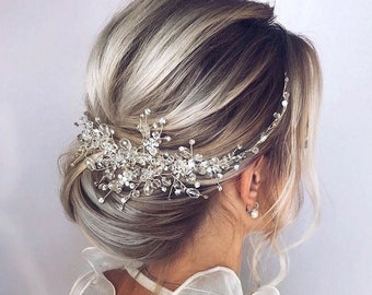 55e9417e53 Crystal Bridal Hair Piece Wedding Hair Accessories Bridal Hair Vine Bridal Hair  Clip Wedding Headpiece Wedding Hair Piece Bridal Hair Pieces