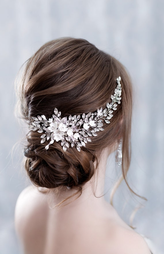Crystal bridal hair piece Bridal hair accessories