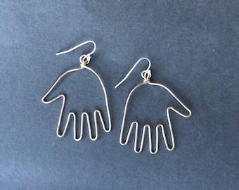 Wire Hand Earrings