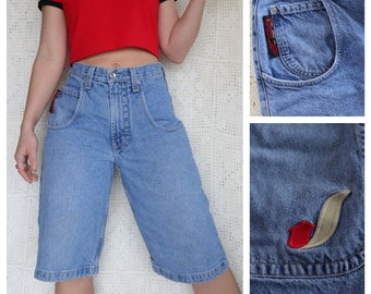 2aa63cbc76 Vintage 1990s JNCO Denim Shorts