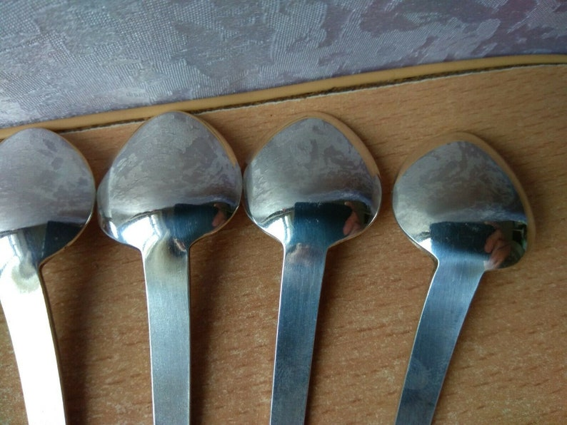 RARE Vintage silver plated old set 6 spoons Melchior SOVIET USSR Kitchenware