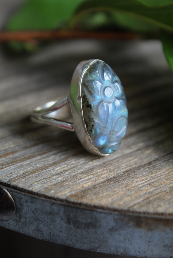 Solid 925 Sterling Silver Latest Jewelry Natural Phosphosiderite Ring Size 11