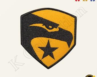 Snake Eyes Head Patch GIJOE Cartoon Duke Flint Stalker Hero Cobra Embroidered