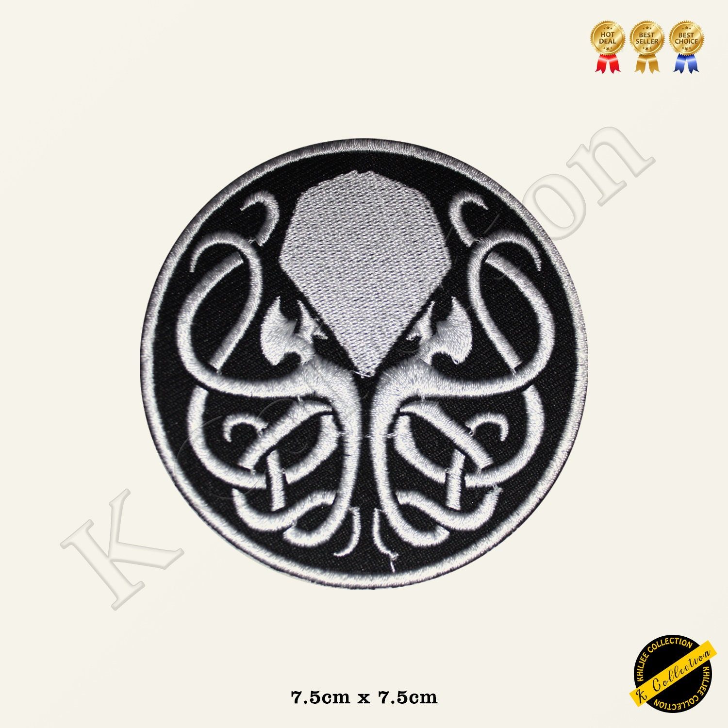 Cthulhu Love Craft Punk Jelly Fish Super Hero Movie Comics Embroidered Iron  on Sew On Patch Badge