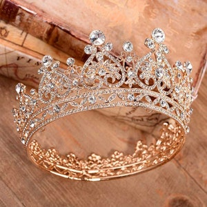Gold Quinceanera Crown With Cross Pendant Necklace quinceanera necklace Quincea\u00f1era