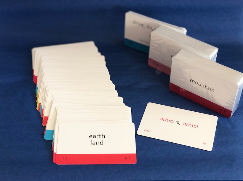 Challenge A Color-Coded Henle Latin Flashcard Playing Cards image 0