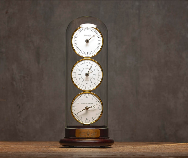 The Anniversary Clock  Musical Table Clock  Wedding image 0