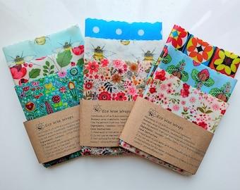 Reusable Beeswax Food Wrap-Choose Your Set. Handmade in UK. Zero waste gift