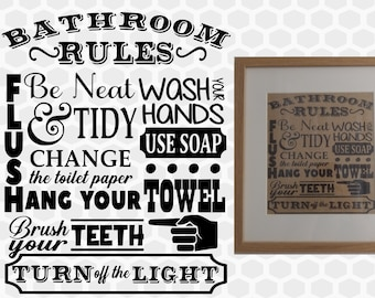 photograph regarding Printable Bathroom Rules identify Toilet regulations Etsy