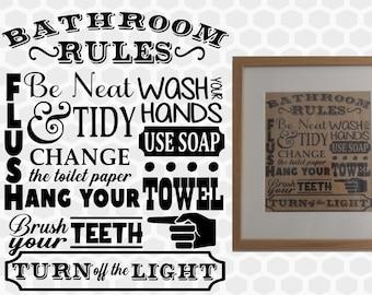 photo regarding Printable Bathroom Rules named Toilet tips Etsy