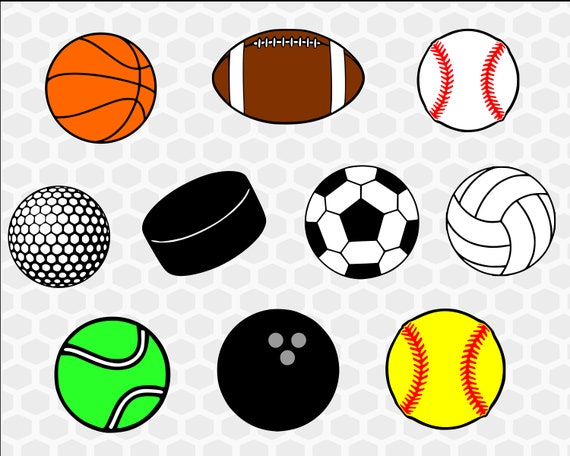 Sports Balls Svg Bundle Sports Svg Basketball Svg Football Etsy