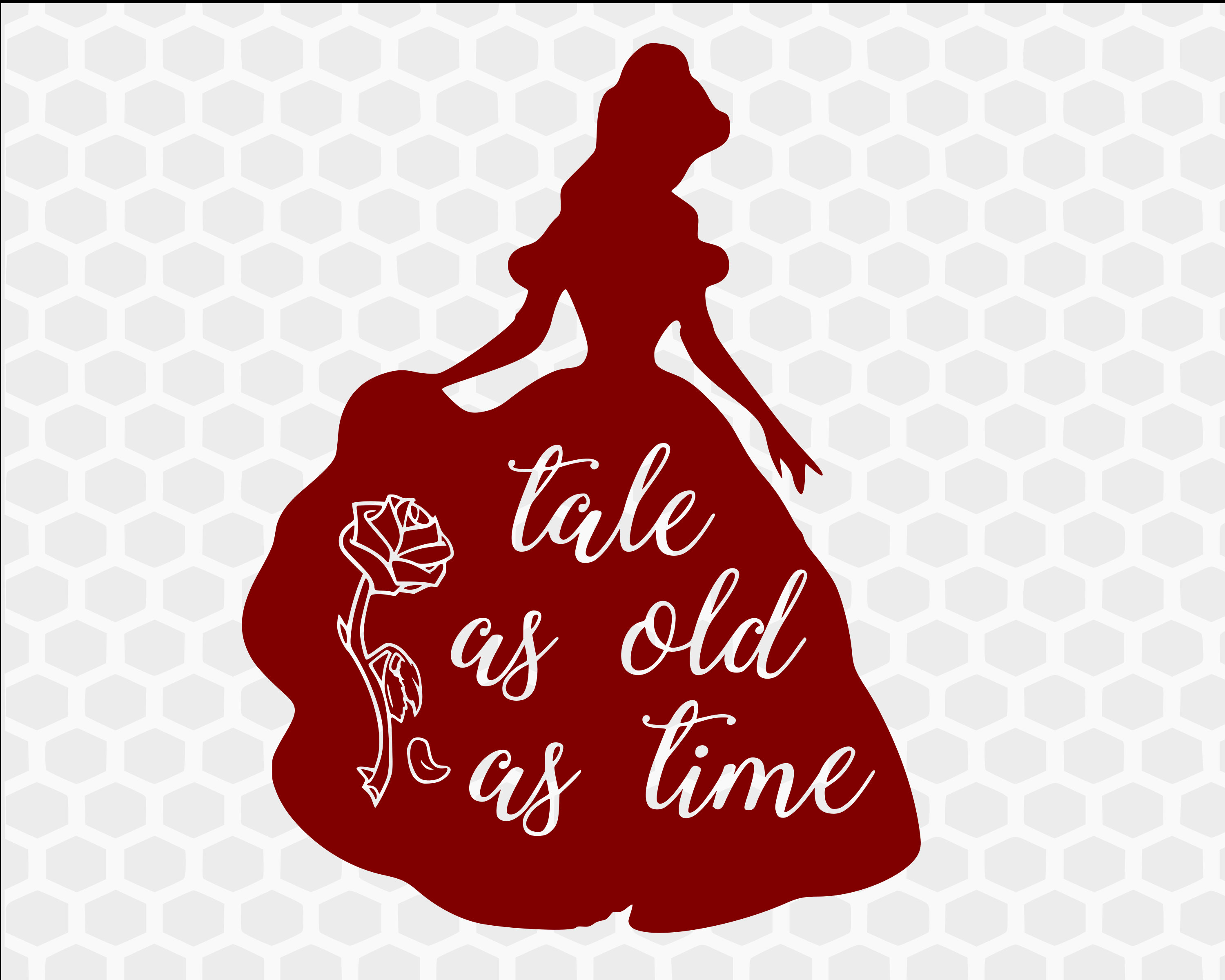 Belle Svg Beauty And The Beast Svg Tale As Old As Time Etsy