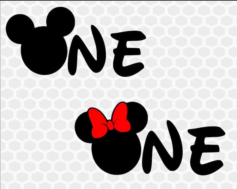 Disney First Birthday Svg Mickey First Birthday Minnie First Etsy