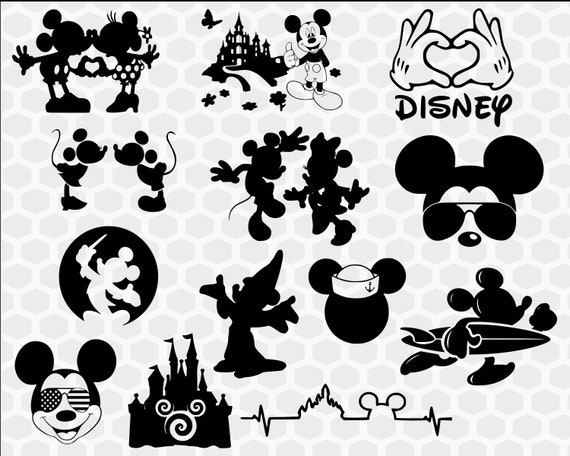 Mickey Mouse Svg Bundle And Clipart Disney Svg Files For Etsy