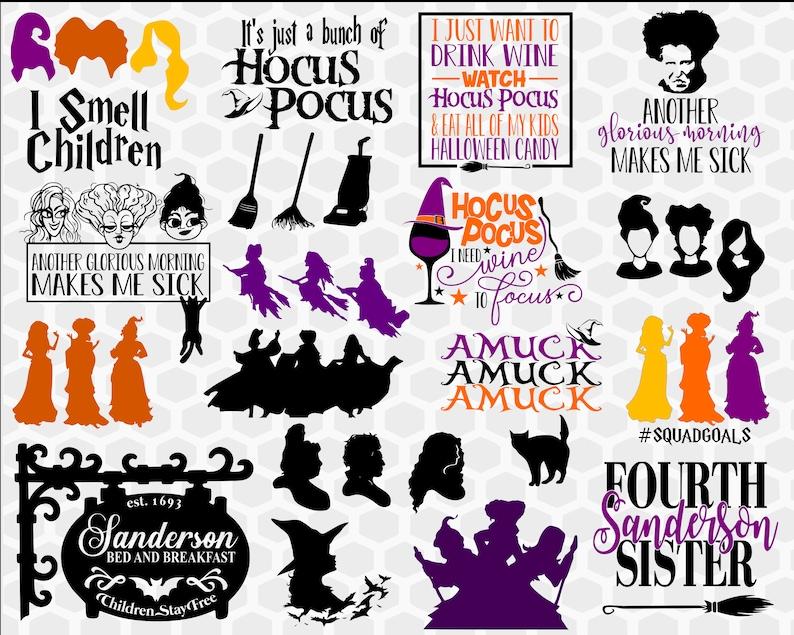Hocus Pocus Svg Halloween Svg Svg Bundle Sanderson Sisters Etsy