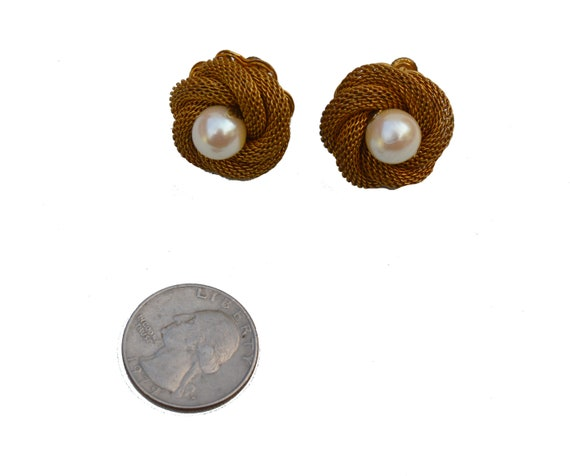 Miriam Haskell Screw-Back Clip-On Earrings