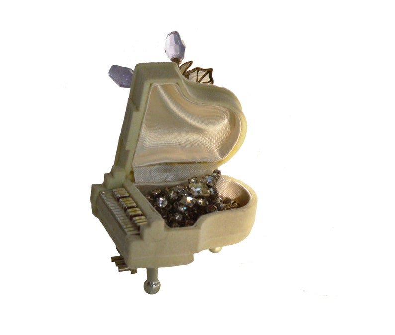 Vintage Piano Shaped Jewelry Gift Box