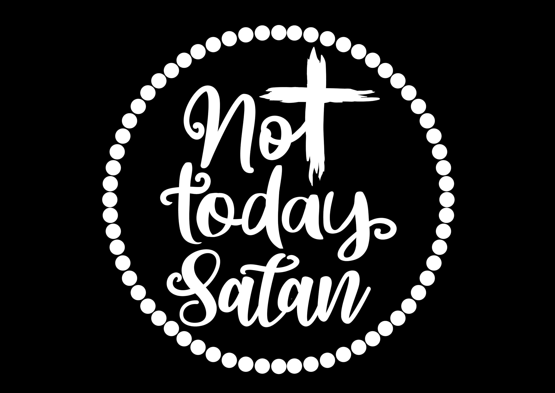 Not Today Satan Svg Cross Easter Jesus Christian Etsy