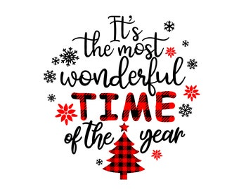 Merry Christmas SVG, It's the most wonderful time of the year svg, Santa svg, Svg Files for cricut, cut file, dxf files for laser, png eps