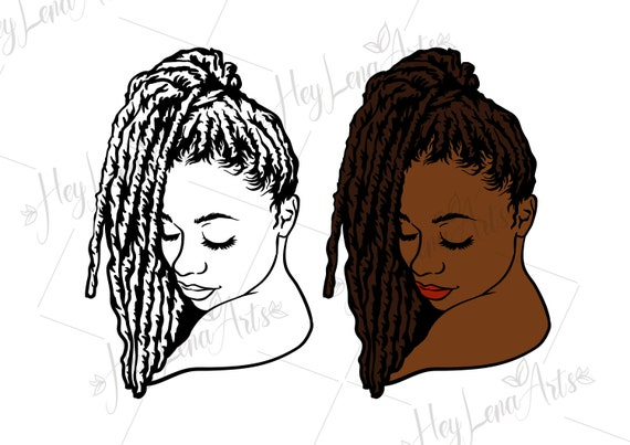 Black Woman Svg Afro Svg Dreadlocks Svg African American Etsy