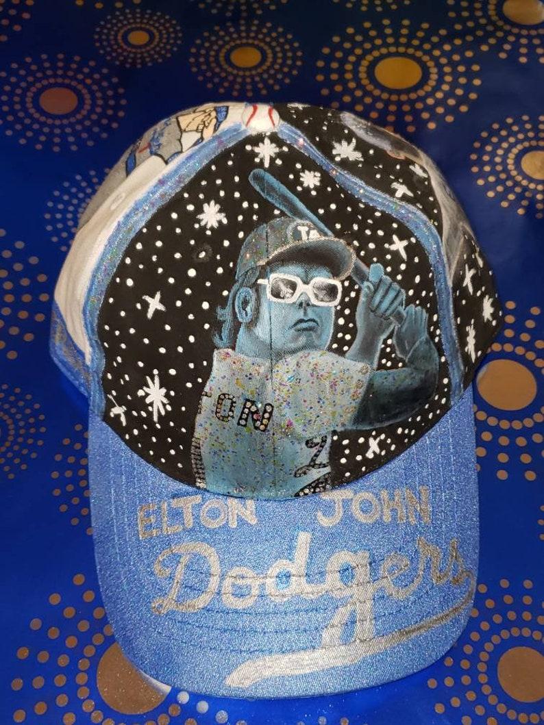 Elton John Dodgers Stadium concert 45th anniversary inspired cap.