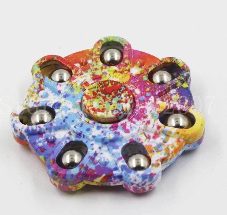 Splash Paint Fidget Spinner  Colorful Fidget Spinner  Personalized PVC Fidget Spinner  Kid/'s Nerdy Birthday Gifts  Stress Relief Toy