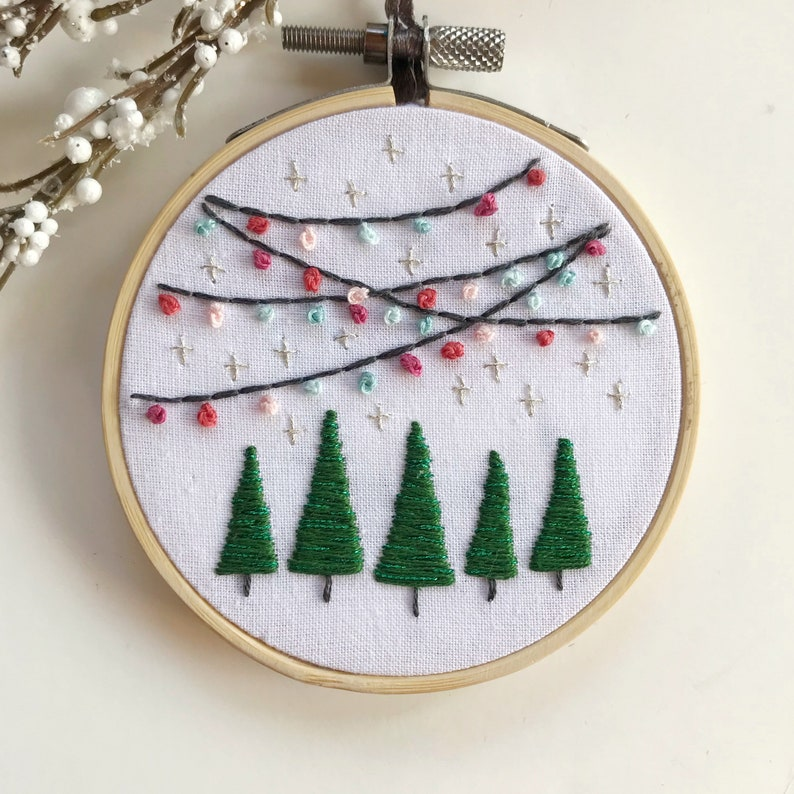 PDF Pattern: Bright Lights Ornament Christmas Embroidery