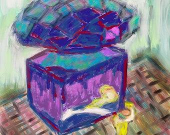 Still life art print - Art Print - Mooni Art - Still life Digital Art - Perfume Wall Art- Perfume Poster - Fashion art print