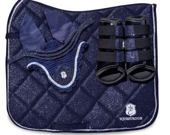 Deep Sapphire Saddle Pad Set