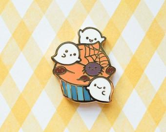 Boo Boo Cupcake (Moody Halloween) Hard Enamel Pin
