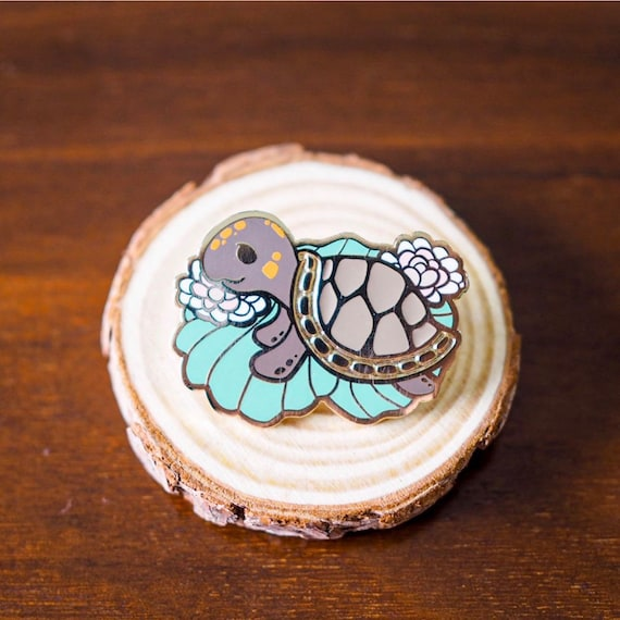 Amazon Charity Pin Red Headed Amazon River Turtle Save The Etsy