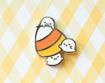 Boo Boo Candy Corn (Moody Halloween) Hard Enamel Pin