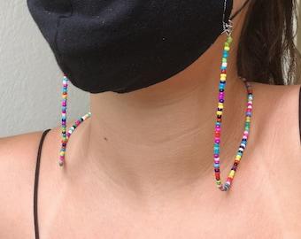 Face Mask Lanyard Mask Necklace Mask Strap Children Adjustable Facemask Lanyard Quality Mask Holder Kids Adult Ear Saver