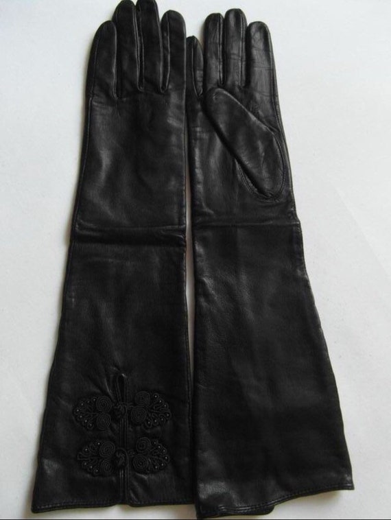 Women's leather gloves Size - 6 1/2 Evening gloves