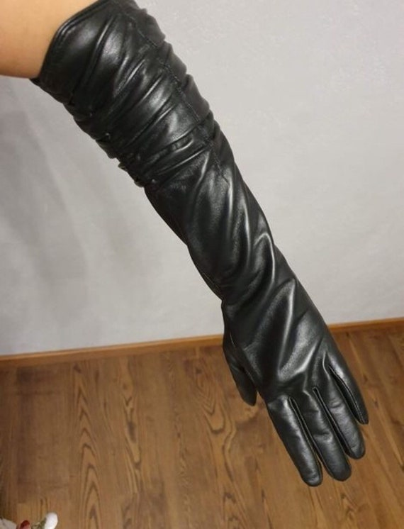Women's leather gloves Size - 7 1/2 Evening gloves