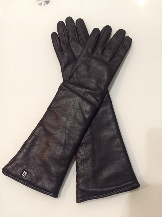 Women's winter leather gloves Size - 7 1/2 Evening