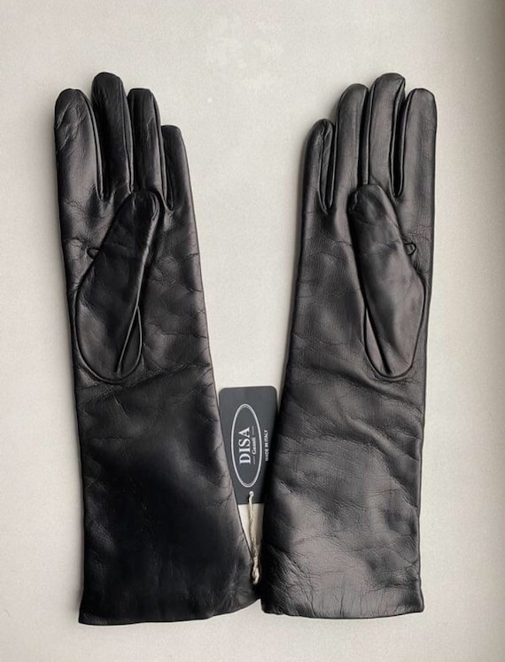 Disa Women's  Winter Leather Gloves Size - 6 1/2,