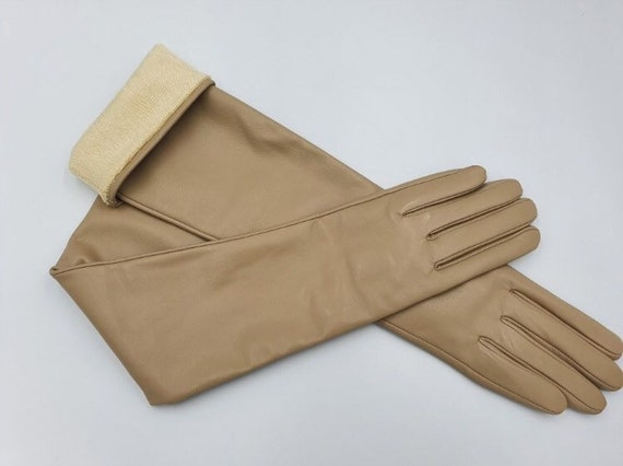 "Leather gloves with ""Touch Screen"" coating Women's"