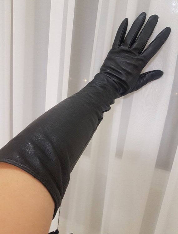 Stock! Women's winter leather gloves New Ladies Wi