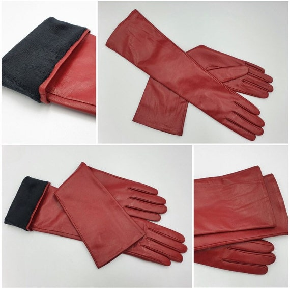 """Leather gloves with """"Touch Screen"""" coating Women's"""