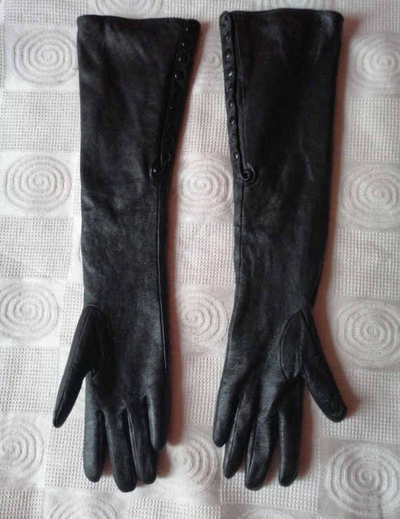 Women's winter leather gloves Size - 8 1/2 Evening