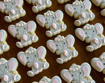 Elephant Baby Shower Cookie