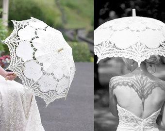 de8f09ab4 Special Offer Battenburg Lace Vintage Umbrella Parasol For Bridal  Bridesmaid Wedding Handmade wedding umbrella