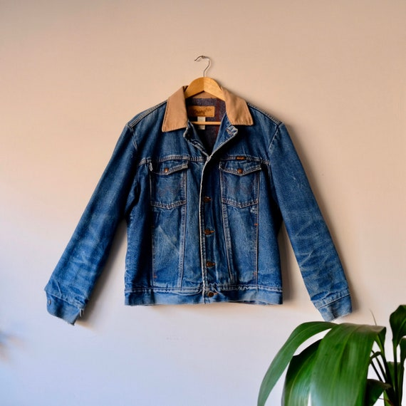 Vintage Denim Trucker Jacket by Wrangler Made in U