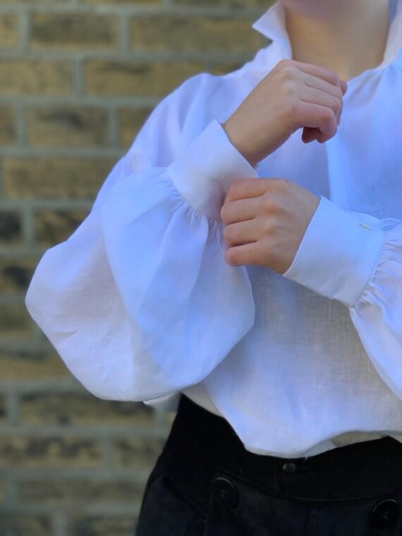 Hombre Camisas Lino Manga Larga Oto/ño Camiseta Abierta Cuello V Color S/ólido Camisas Informales Anchas Suave Transpirable Blusa Casual Top