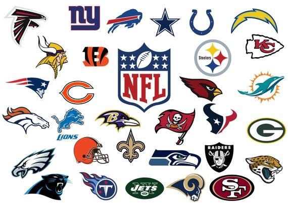 Nfl Football Teams Files Nfl Instant Download Nfl Football Etsy