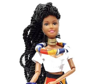 Black Doll - Princess Sinentle -  Twist Braids