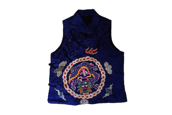 Vintage Chinese Hand Embroidered Silk Vest